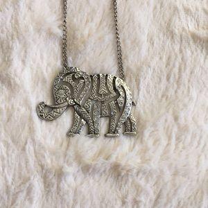 H&M Silver Elephant Necklace